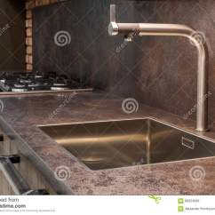 Brown Kitchen Sink Decor Cheap 在不锈钢厨房水槽的现代设计师镀铬物水龙头库存照片 图片包括有灌肠器 在不锈钢厨房水槽的现代设计师镀铬物水龙头