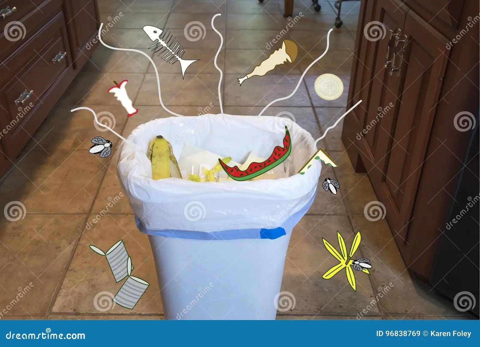 kitchen trash best hoods 在厨房垃圾箱的气味库存图片 图片包括有飞行 食物 气味 说明 西瓜 厨房与被说明的飘动的垃圾箱嗅到在家里面