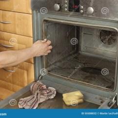 Kitchen Aid Ovens Bistro 在厨房里供以人员在地板上的跪并且清洗烤箱库存照片 图片包括有施加 佣 在厨房里供以人员在地板上的跪并且清洗烤箱