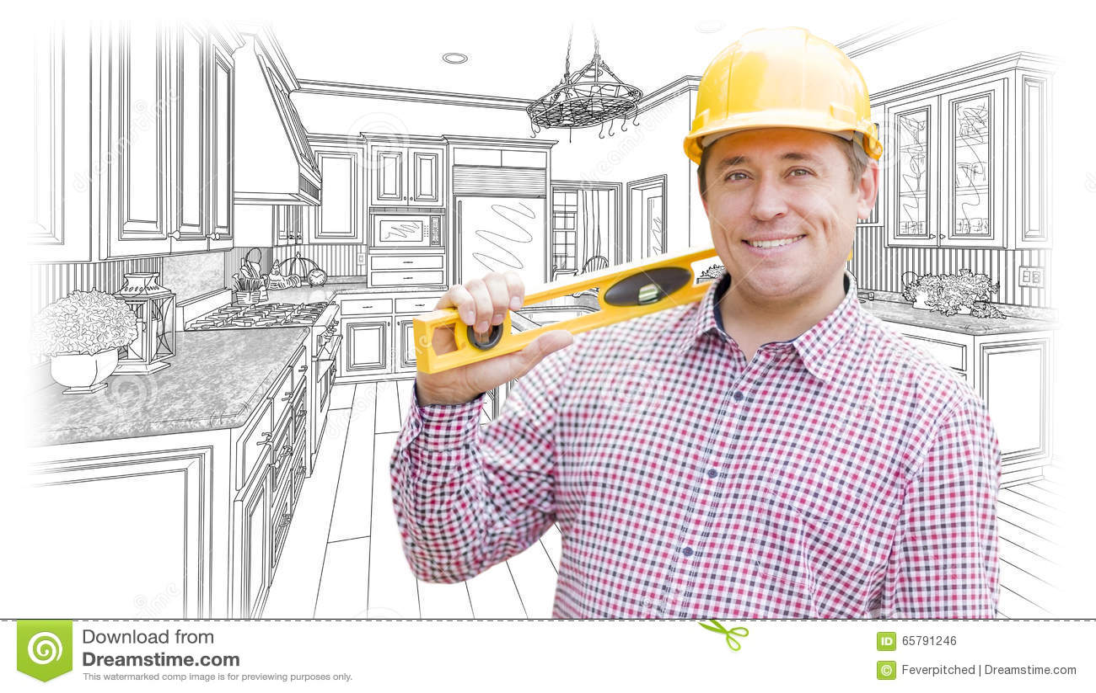 kitchen contractor vegas hotels with 在安全帽的承包商有在习惯厨房图画的水平的库存例证 插画包括有安全帽 在安全帽的承包商有在习惯厨房图画的水平的