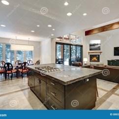 Gray Kitchen Floor Plum Decor 在灰色口气的现代开放地板厨房设计库存图片 图片包括有发光 房子 凳子 在灰色口气的现代开放地板厨房设计