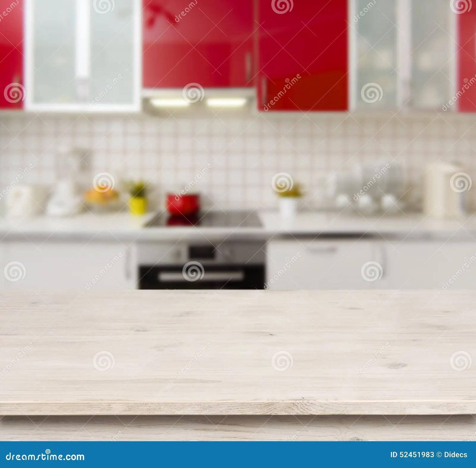 wood table kitchen ikea backsplash 在红色现代厨房长凳内部背景的木桌库存图片 图片包括有装饰 烤箱 制动 在红色现代厨房长凳内部背景的木桌