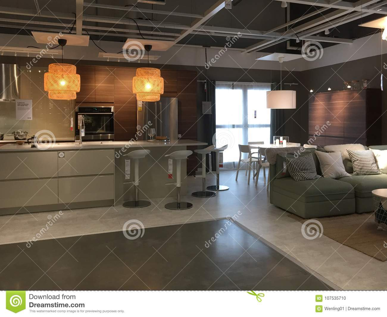 home and kitchen stores countertop ideas on a budget 在装备的商店宜家的现代厨房和家庭娱乐室设计编辑类图片 图片包括有家具 在装备的商店宜家的现代厨房和家庭娱乐室设计