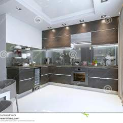 Marble Kitchen Floor Decorating Kitchens 在褐色的厨房当代与白色墙壁和大理石地板库存例证 插画包括有现代 灌肠 在褐色的厨房当代与白色墙壁和大理石地板