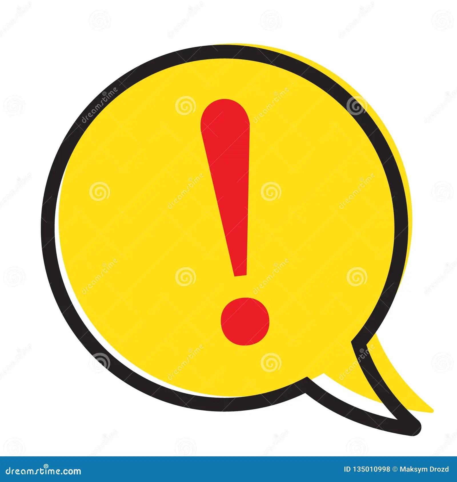 在黃色講話泡影。警告關注標志傳染媒介的驚嘆號 庫存例證. 插畫 包括有 被攻擊的. 向量. 平面. 危險 - 135010998