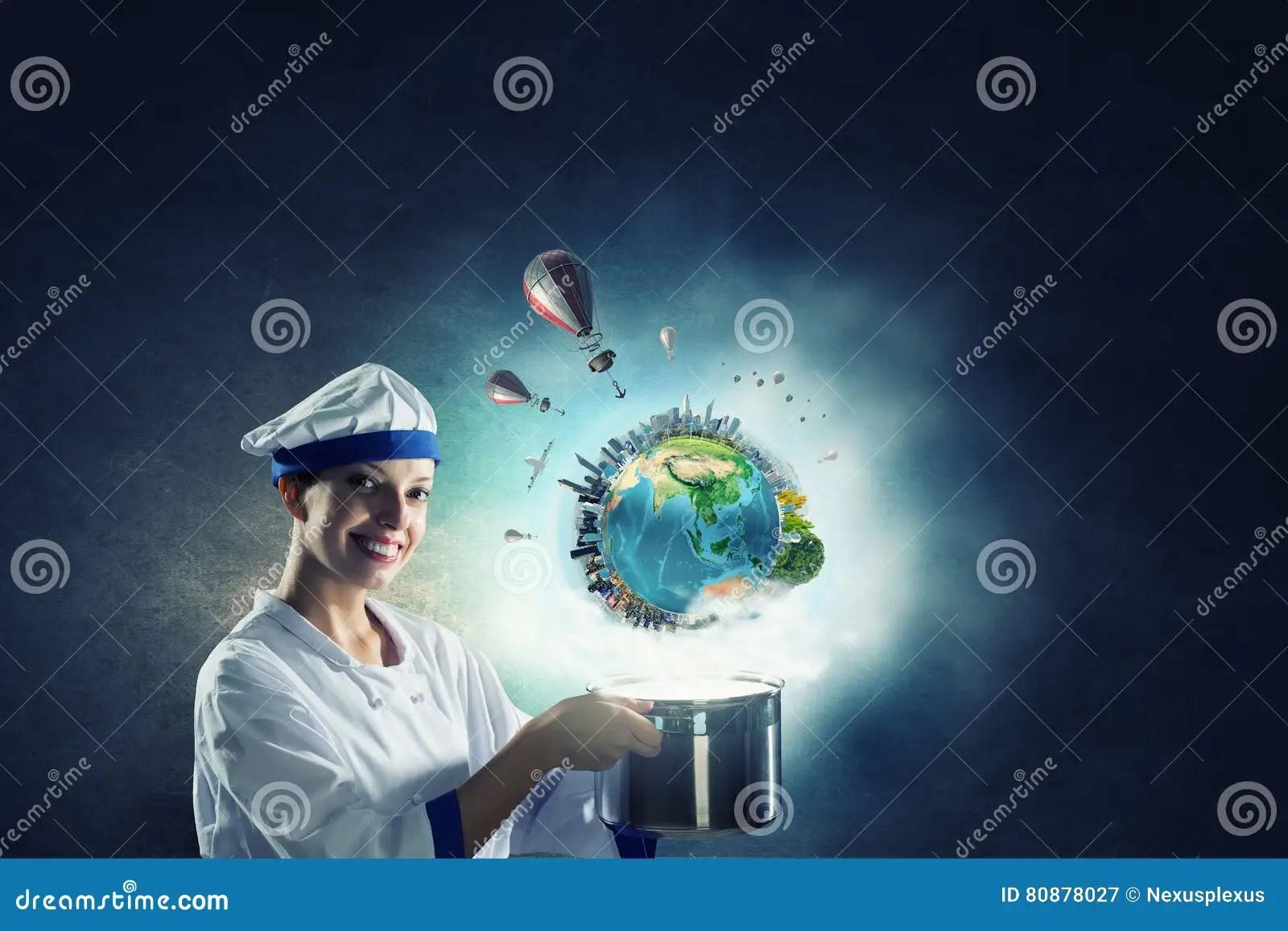 kitchen magician sink for sale 她是魔术师作为厨师混合画法库存图片 图片包括有快乐 魔术师 4月 做在平底锅上的年轻可爱的厨师妇女魔术这个图象的元素由美国航空航天局装备