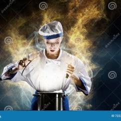 Kitchen Magician Drop Leaf Tables For Small Spaces 她是魔术师作为厨师库存照片 图片包括有厨房 烹调 4月 魔术 主厨 她是魔术师作为厨师