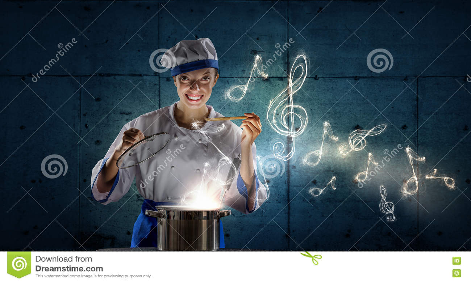 kitchen magician sinks for kitchens 她是魔术师作为厨师库存照片 图片包括有厨房 主妇 午餐 曲调 查找 她是魔术师作为厨师