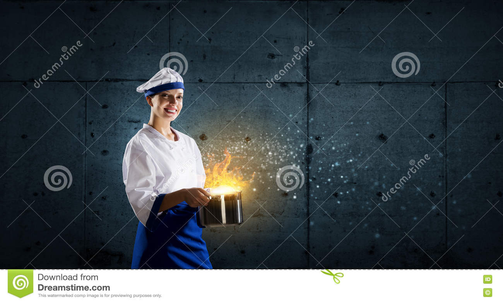 kitchen magician shelf for 她是魔术师作为厨师库存图片 图片包括有厨房 午餐 人员 快乐 烹调 她是魔术师作为厨师
