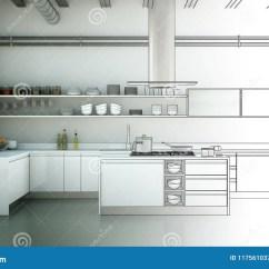 Designing Kitchens Kitchen Non Slip Shoes 室内设计厨房图画渐进性到照片里库存例证 插画包括有绘制 房子 想法 室内设计厨房图画渐进性到照片3d例证里