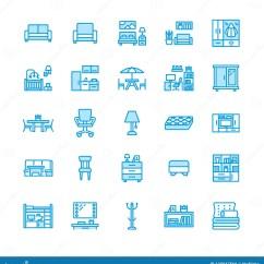 Home And Kitchen Stores Cabinet Refacing Mississauga 家具传染媒介平的线象客厅电视立场 卧室 家庭办公室 厨房壁角长凳 沙发 托儿所 餐桌 卧具内部商店的稀薄的标志收藏映象点完善的64x64