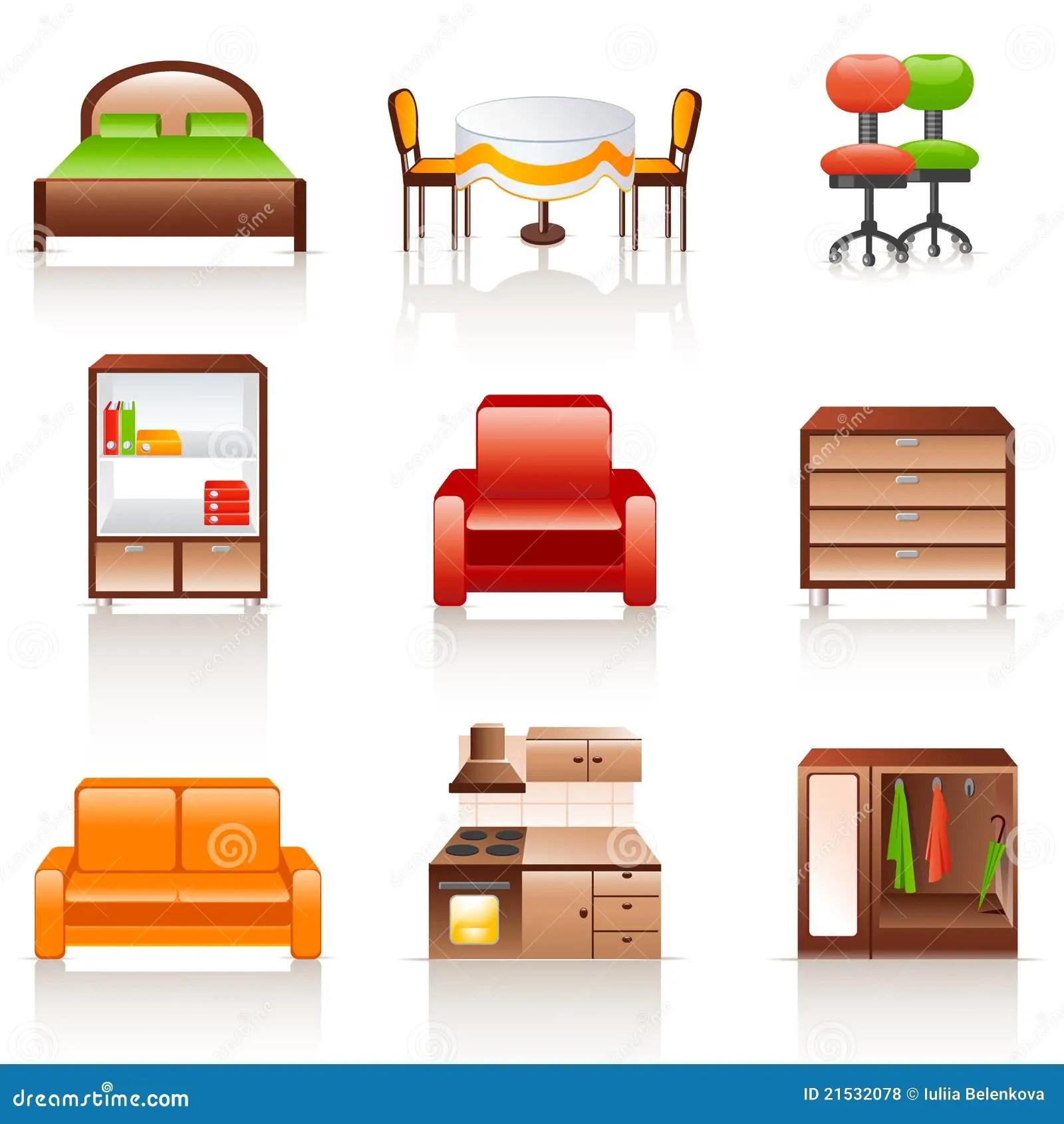 kitchen benches how to design a remodel 家具图标向量例证 插画包括有方便 书架 碗柜 高雅 机柜 厨房 长椅 家具图标