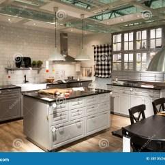 Home And Kitchen Stores Island Table Ikea 家具店的宜家厨房编辑类图片 图片包括有货物 行业 办公室 内部 编排 厨房家具和家庭商店宜家内部在维尔纽斯 在2013立陶宛 打开