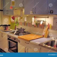Kitchen Furniture Store Apartment Kitchens 家具店的宜家厨房图库摄影片 图片包括有碗柜 家具 五颜六色 内部 家具店的宜家 彼得斯堡 俄罗斯厨房