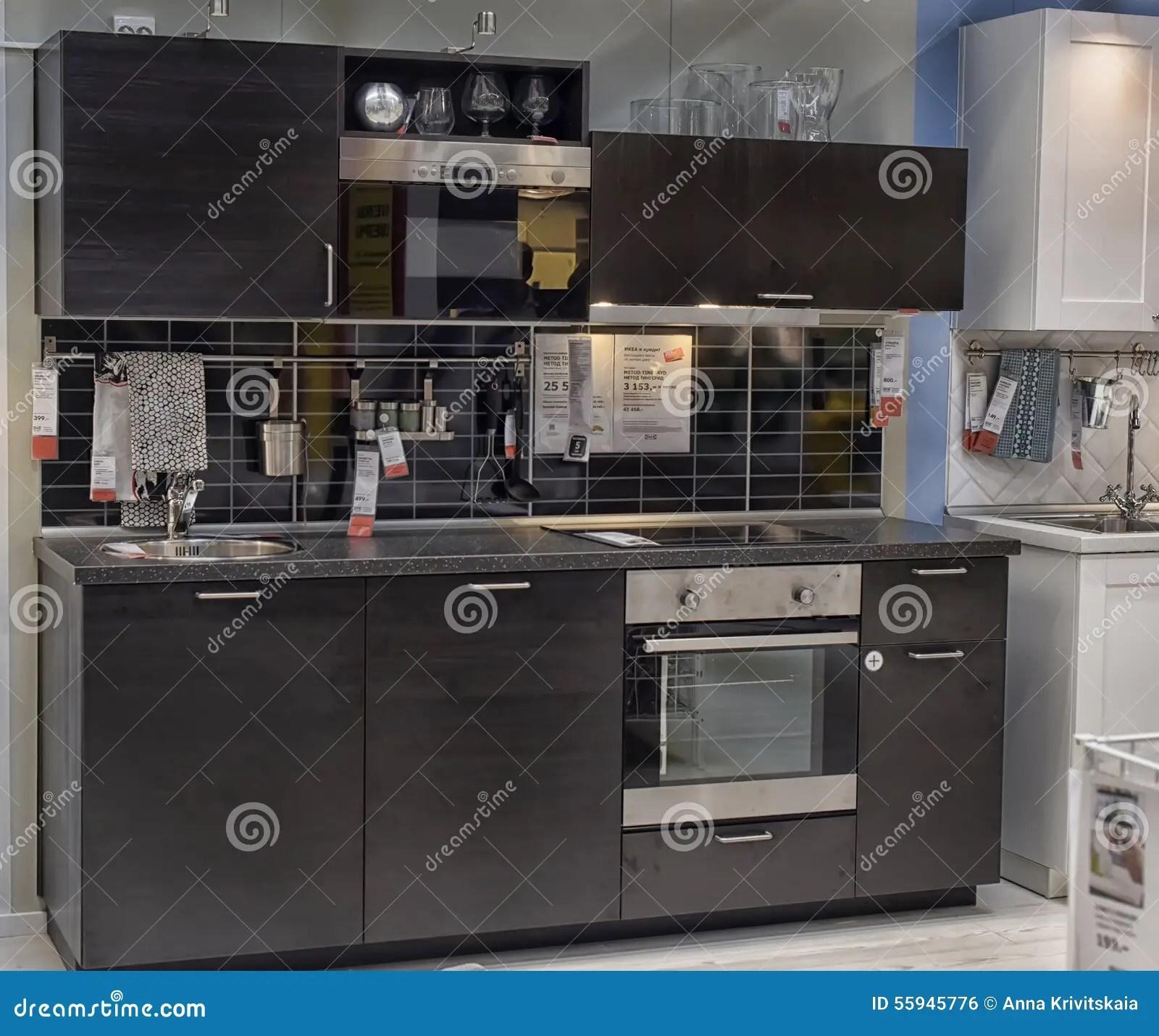 kitchen furniture store rugs under table 家具店的宜家厨房编辑类照片 图片包括有显示 装饰 设计员 家具 设计 家具店的宜家 彼得斯堡 俄罗斯厨房