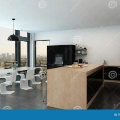 Wood Mode Kitchens Small Kitchen Idea 宽敞开放学制厨房餐厅内部库存例证 插画包括有模件 家具 内部 空间 宽敞开放学制厨房餐厅内部