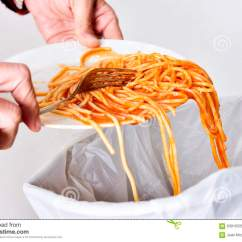 Kitchen Aid Pasta Outdoor Countertops 年轻对垃圾桶的人投掷的残羹剩饭库存图片 图片包括有意大利面食 回收 年轻对垃圾桶的人投掷的残羹剩饭