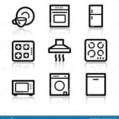 Kitchen Signs For Home Retractable Faucet 工具回家图标万维网向量例证 插画包括有简单 等高 微波 洗衣机 工具回家图标万维网