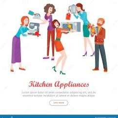 Home And Kitchen Stores Couch 工具背景例证厨房白色套商店销售的人向量例证 插画包括有弯脚的 要人 工具背景例证厨房白色套商店销售的人