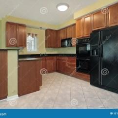 Slate Floor Kitchen Retro Stoves 工具黑色厨房库存图片 图片包括有板岩 豪华 正餐 庄园 内部 照明 工具黑色厨房