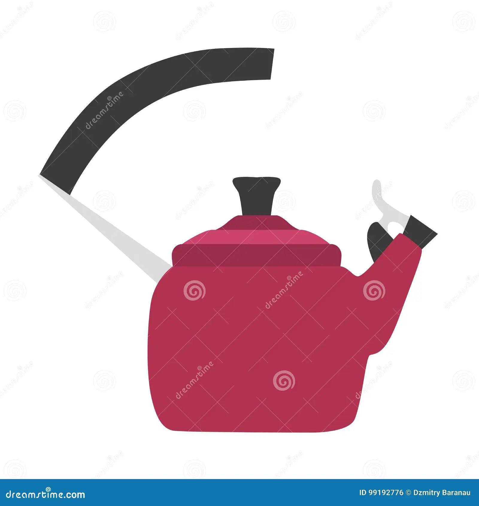 kitchen aid electric kettle etched glass cabinet doors 平水壶例证传染媒介茶设计上面火炉蒸汽厨房器具热的茶壶向量例证 插画 平水壶例证传染媒介茶设计上面火炉蒸汽厨房器具热的茶壶
