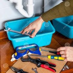 Kitchen Tongs Shoes For 手采取板钳对修理厨房水槽库存图片 图片包括有灵活 维修服务 挂接 厨房水槽修理手采取从工具箱配管的一把板钳