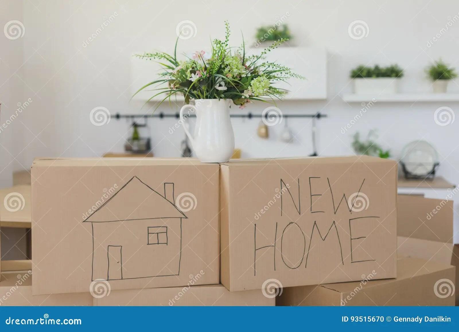 mobile home kitchens ikea wooden kitchen cart 打开在新的家庭和投入的事的箱子在厨房里 大纸板箱在新的家移动向一个新 大