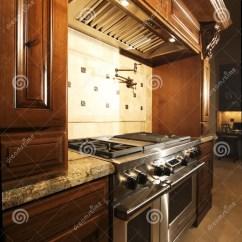 Kitchen Aid Range Retro Tables 敞篷厨房不锈烤箱的范围库存图片 图片包括有重婚 装饰 设计员 机柜 消耗大的家庭敞篷厨房新的范围s非常