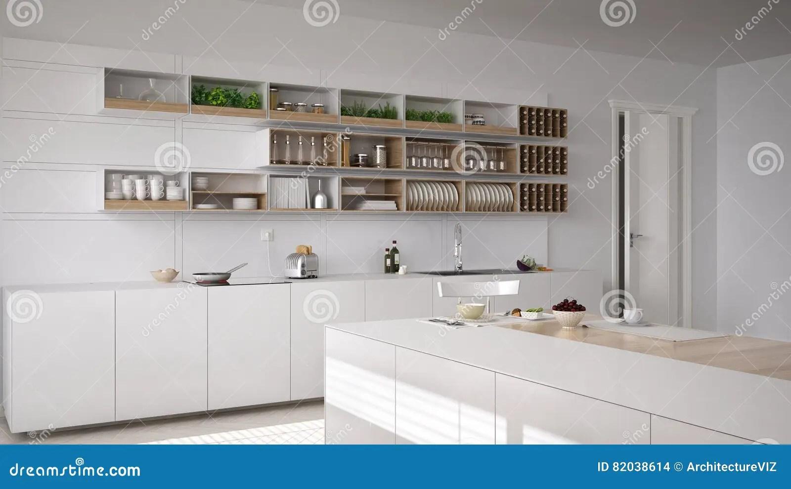 framed prints for kitchens outdoor kitchen bar 斯堪的纳维亚白色厨房 minimalistic内部库存照片 图片包括有木条地板 minimalistic内部