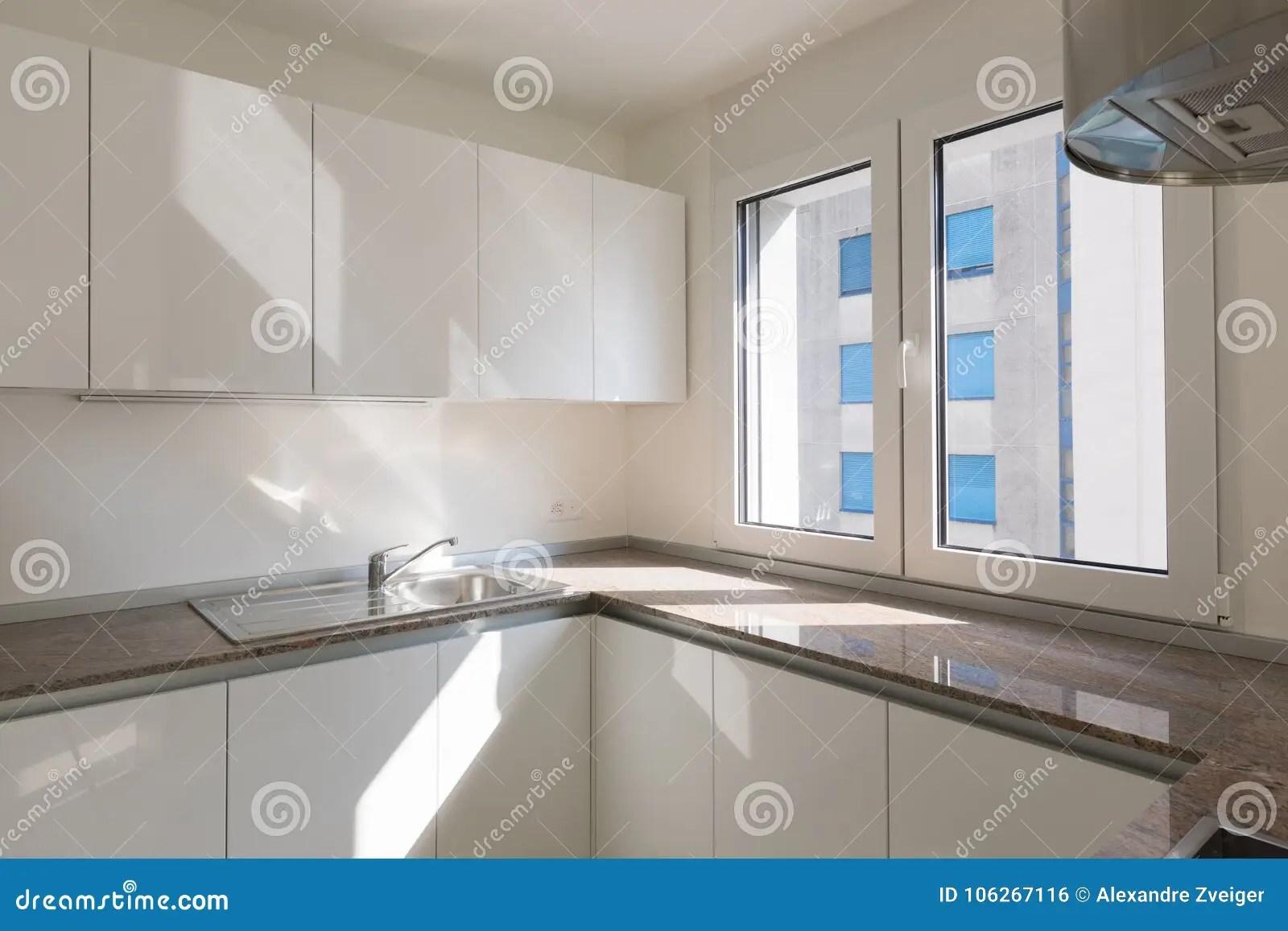 kitchen corner sinks best flooring for a 新的现代厨房角落细节库存照片 图片包括有拱道 最低纲领派 敞篷 详细 新的现代厨房角落细节