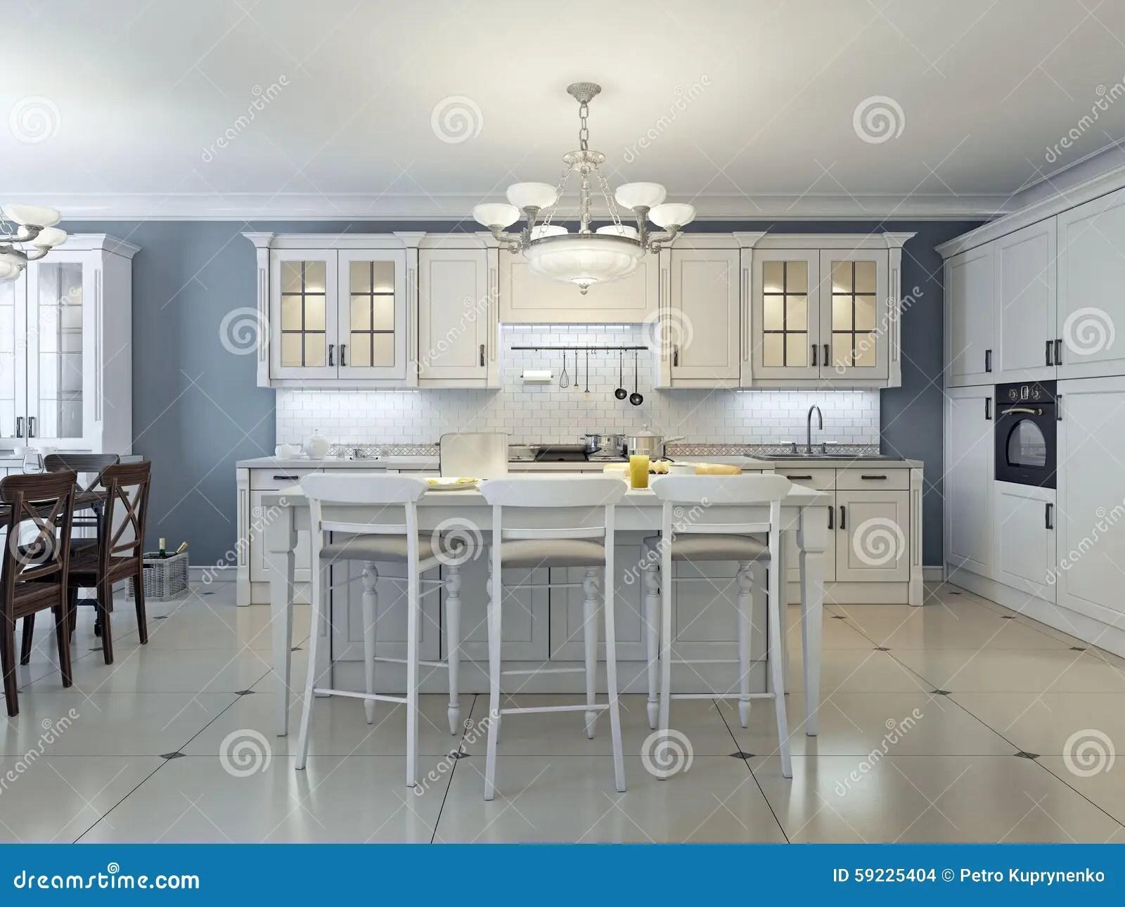 navy blue kitchen decor grey cabinet ideas 明亮的艺术装饰厨房设计库存例证 插画包括有地中海 蓝色 微波 枝形 明亮的艺术装饰厨房设计