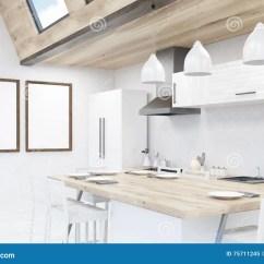 Framed Prints For Kitchens Home Depot Kitchen Cabinet Sale 有两张海报的厨房在墙壁上库存例证 插画包括有回报 生活方式 房子 有两张海报的厨房在墙壁上