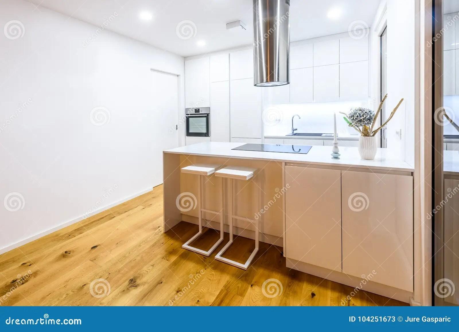 in stock kitchens skinny kitchen cabinet 有厨房器具的室内设计新的现代白色厨房库存图片 图片包括有方便 设计 有厨房器具的室内设计新的现代白色厨房