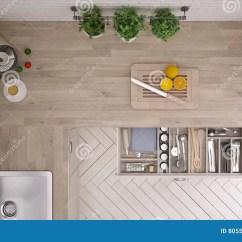 Kitchen Design Tools Looking For Used Cabinets 有厨房工具的厨房 室内设计库存照片 图片包括有健康 有机 男低音 室内设计