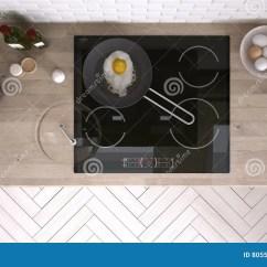 Kitchen Design Tools Rustic Wood Table 有厨房工具的厨房 室内设计库存照片 图片包括有自然 内部 会议室 室内设计
