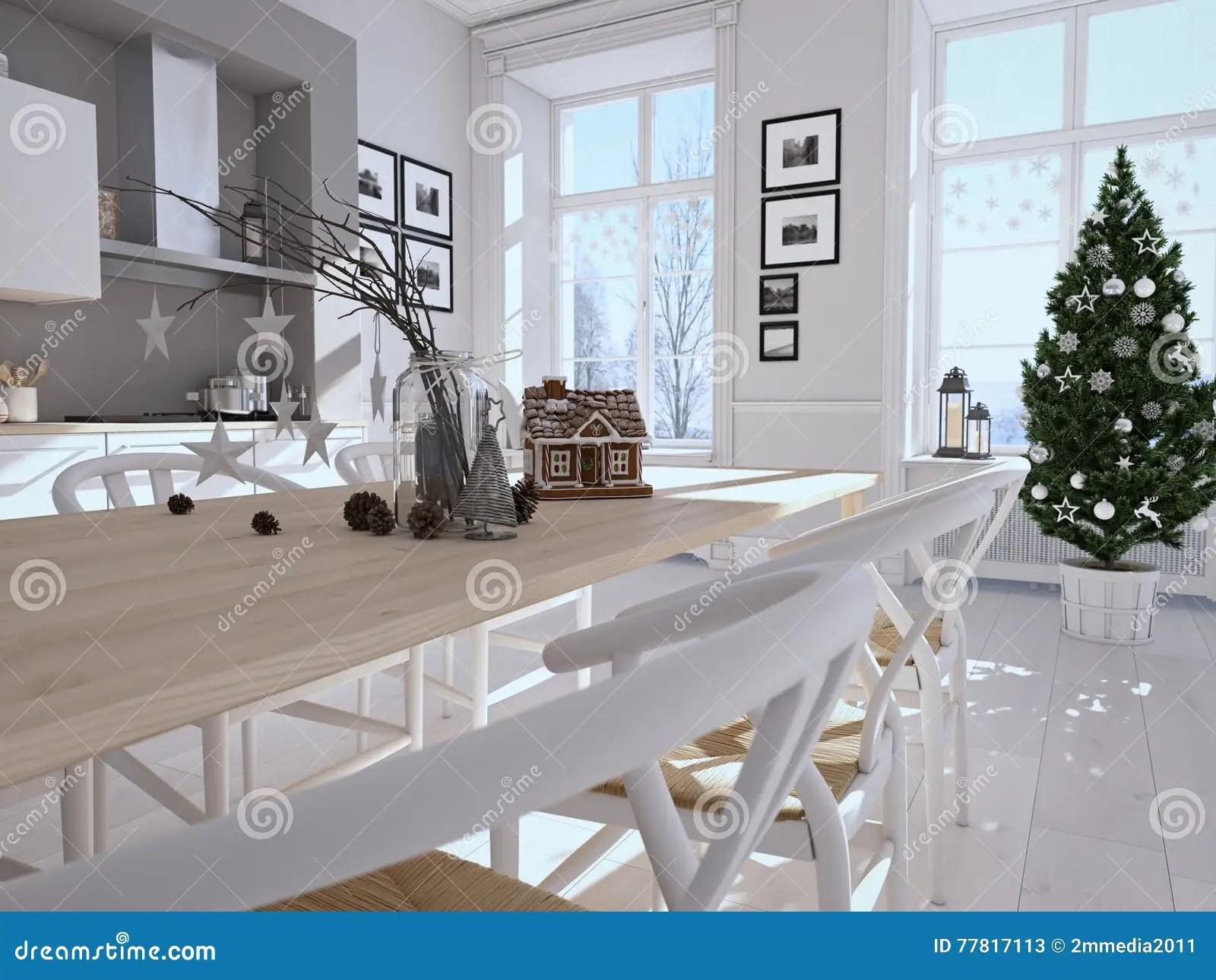 kitchen lanterns cabinets san diego 有圣诞节装饰的北欧厨房3d翻译库存图片 图片包括有设计 灯笼 魔术 3d翻译有圣诞节装饰的北欧厨房