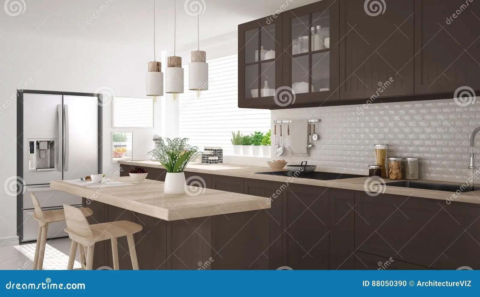 kitchen miniature mobile home sink 有木和棕色细节的斯堪的纳维亚经典厨房 微型库存例证 插画包括有当代 有木和棕色细节的 minimalistic室内设计斯堪的纳维亚经典厨房