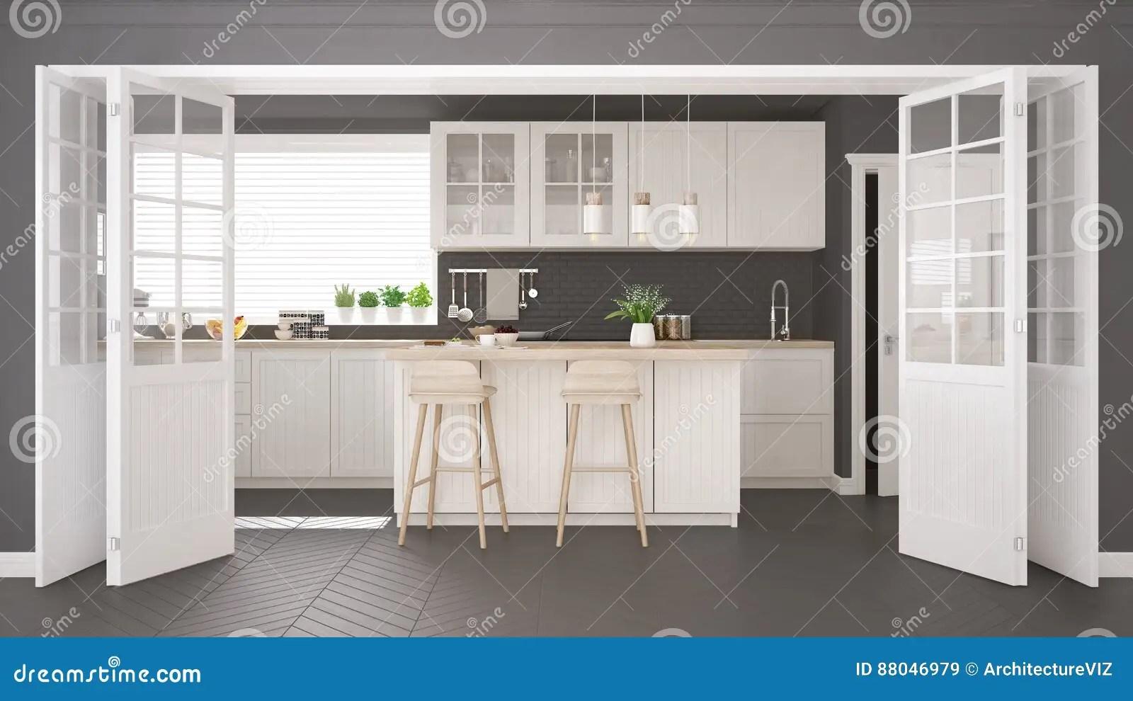 kitchen miniature ikea stools 有木和白色细节的斯堪的纳维亚经典厨房 微型库存例证 插画包括有花梢 有木和白色细节的 minimalistic室内设计斯堪的纳维亚经典厨房