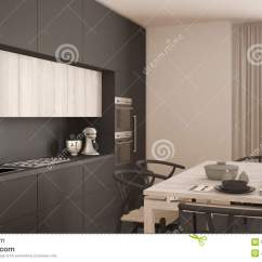 Gray Kitchen Floor Outdoor Frame Kit 有木地板的 经典内部现代最小的灰色厨房库存照片 图片包括有典雅 烹调 经典内部现代最小的灰色厨房