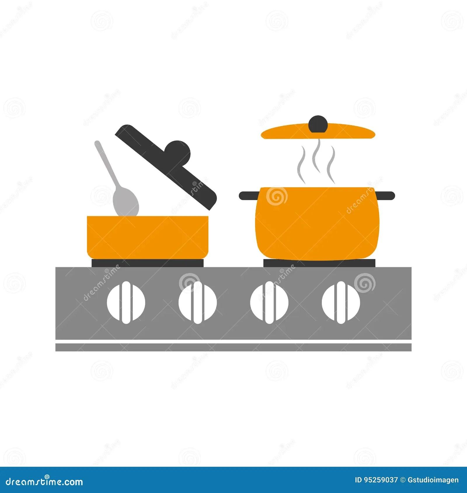 kitchen canister buy metal cabinets 有火炉的厨房罐向量例证 插画包括有图象 国内 餐馆 烹饪 棍子 正餐 有火炉传染媒介例证设计的厨房罐