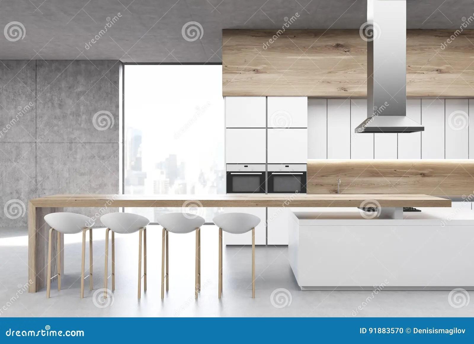 chairs kitchen menards design 有烤箱的厨房 前面库存例证 插画包括有椅子 厨房 内部 方便 房子 前面