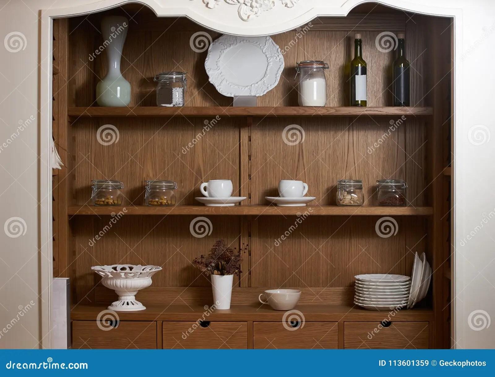 kitchen sideboards toy hauler with outdoor 有精密土气餐具的厨房碗柜库存图片 图片包括有茶碟 户内 空白 弯脚的 有精密土气餐具的厨房碗柜
