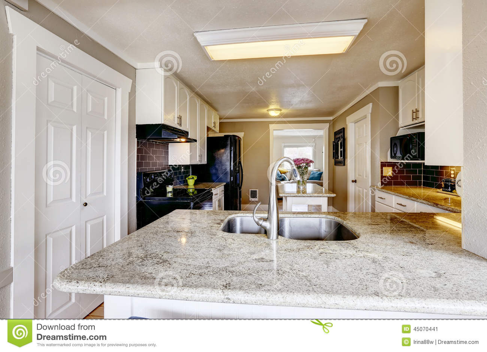 renew kitchen cabinets oakley sink backpack review 有花岗岩上面的厨柜和钢下沉库存图片 图片包括有更新 任何地方 西北 有花岗岩上面的厨柜和钢下沉