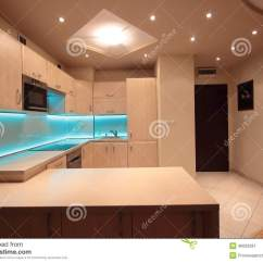 Lighting Kitchen Hanging Lights For Island 有蓝色led照明设备的现代豪华厨房库存图片 图片包括有照明设备 住宅 有蓝色led照明设备的现代豪华厨房