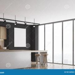 Corner Hutch Kitchen Design Layout Tool 有酒吧和海报的 角落黑厨房库存例证 插画包括有干净 概念 国内 没人 一个黑厨房的角落有酒吧和轻的木家具的有在墙壁上的空白被构筑的海报3d翻译 嘲笑