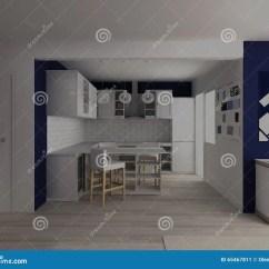 Primal Kitchen Bars Amazon Cabinets 有酒吧桌的现代白色厨房在平白色和蓝色的演播室库存例证 插画包括有没人 有酒吧桌的现代白色厨房在平白色和蓝色的演播室