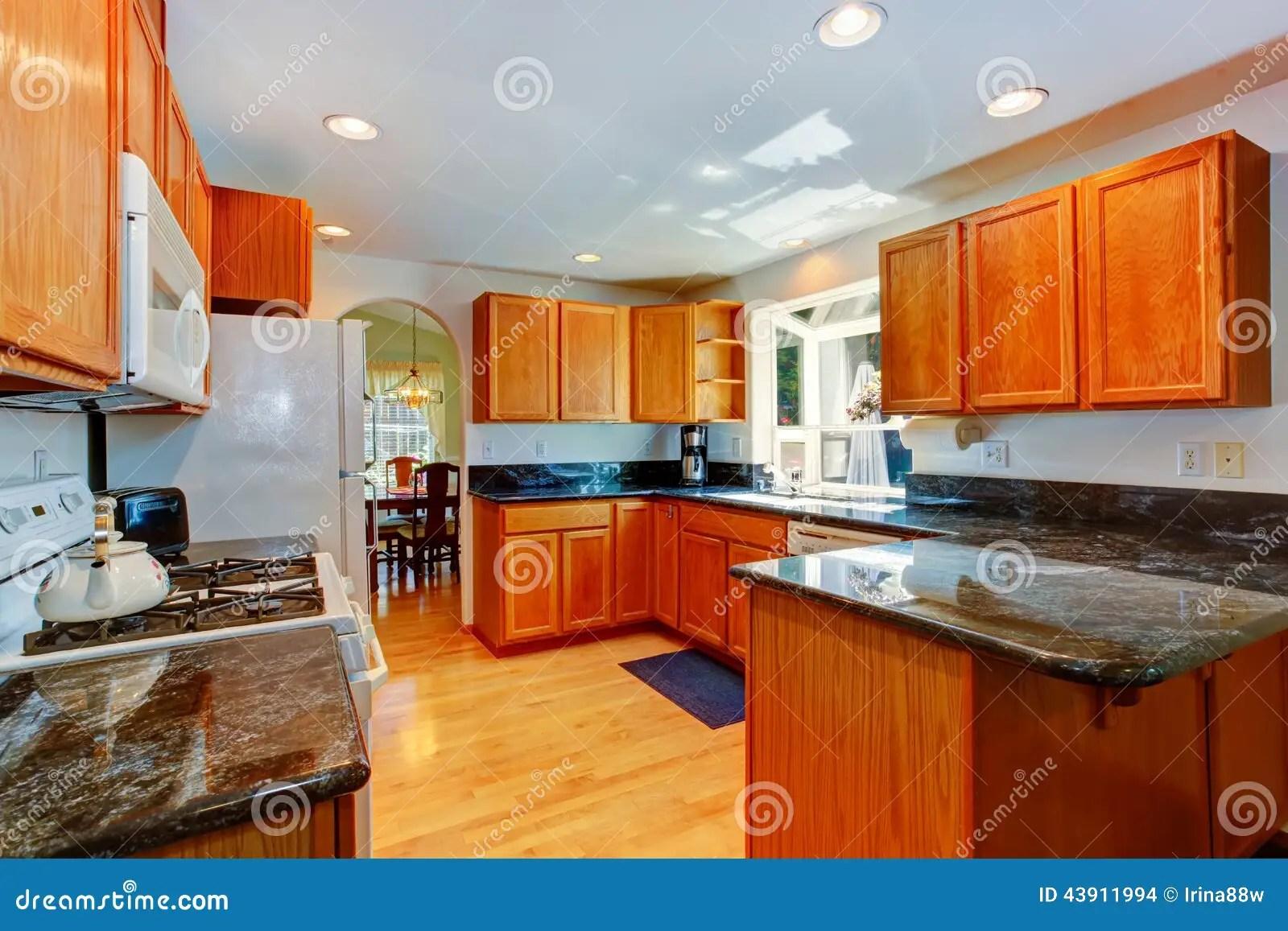 renew kitchen cabinets cabnets 有黑花岗岩上面的厨柜库存照片 图片包括有投反对票 视窗 房子 计数器 有木内阁和黑花岗岩上面的厨房室