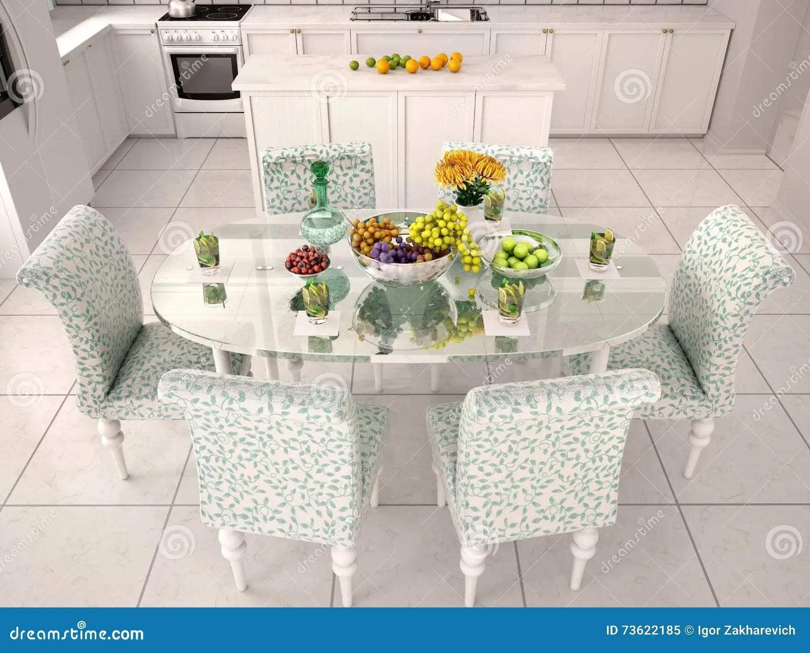kitchen glass table drawer organization ideas 服务玻璃桌在白色厨房里库存例证 插画包括有小厨房 里面 装饰 干净 download
