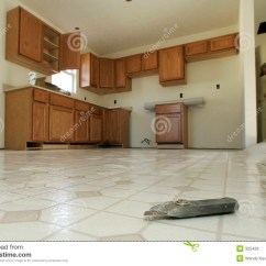 Kitchen Vinyl Flooring Rear Travel Trailer 楼层安装厨房库存图片 图片包括有维修服务 用品 楼层 站点 材料 是剪切眼睛地板前景安装了厨房新的s工具视图乙烯基蠕虫