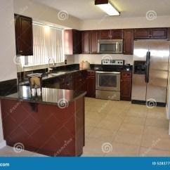 Updated Kitchens Kitchen Sink Hose Repair 樱桃木头被更新的厨房库存图片 图片包括有木头 查找 现代 樱桃 照明 与照明设备的厨房神色